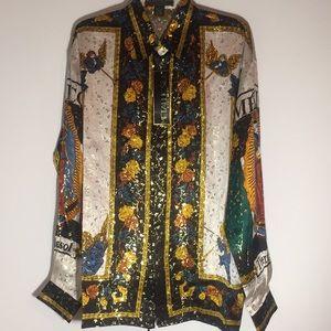 100% silk designer inspired long sleeve Mexico